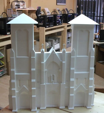 San Fernando Cathedral Being Built