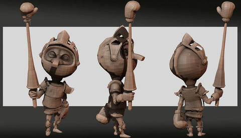 3D Design for Rein Character Boxing Knight