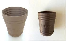 3D Printed Bronzefill Antique Cups