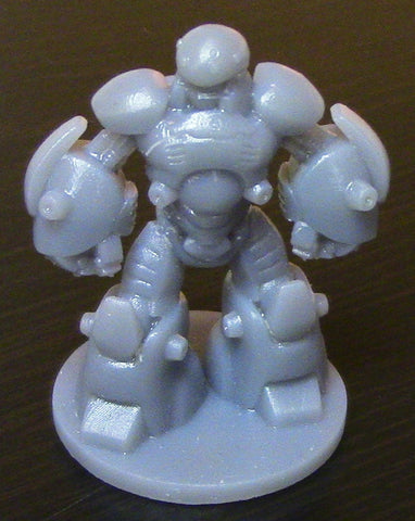 3D Printed Open Board Game Robot Figurine in Resin