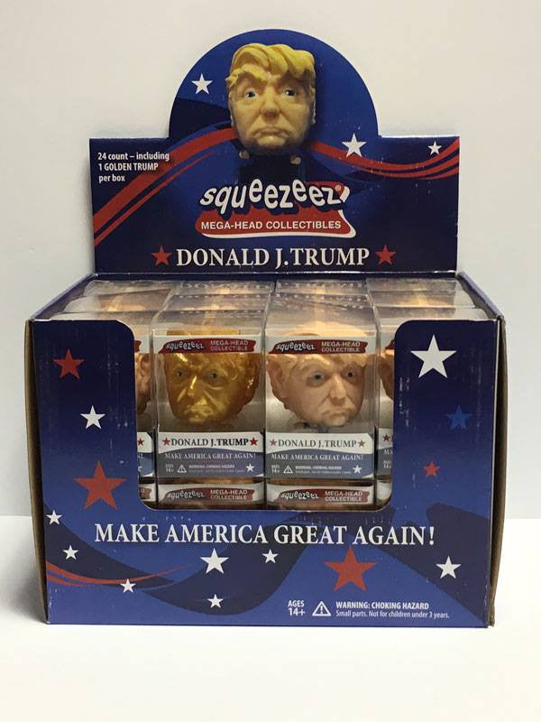 3D Printed Model of Donald J. Trump Made into a Collectible Toy that you can Squeeze