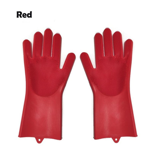 Magic Silicone Dish Washing Gloves For Household Scrubber Gloves