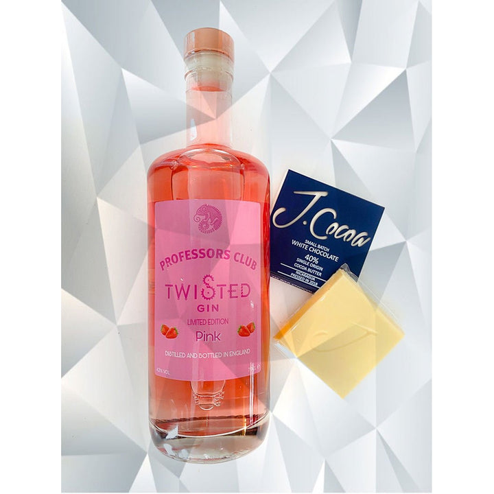 Professors Club Pink Gin (70cl) with J.Coco White Chocolate (Gift-wrapped) - Afterthought Spirits Company Ltd