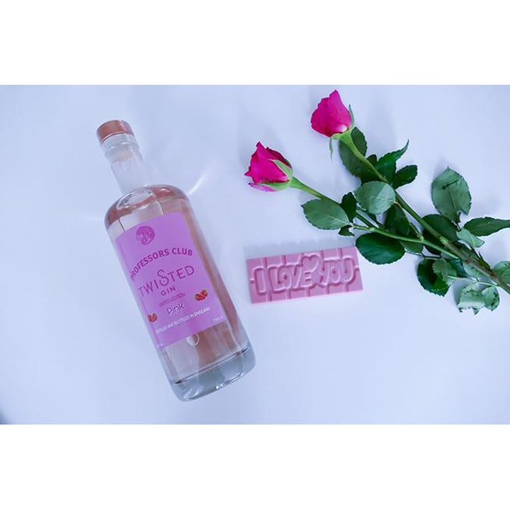 Professors Club Pink Gin (70cl) with Callebaut Strawberry Belgian Chocolate - Afterthought Spirits Company Ltd