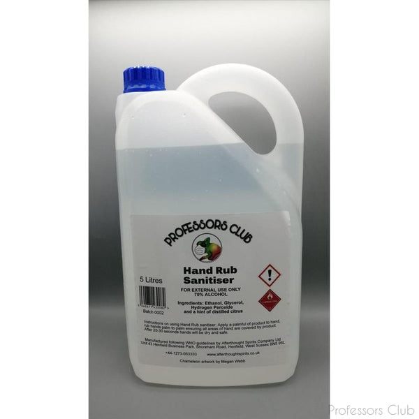 Professors Club - Hand Rub Sanitiser - 5 Litre jerry can