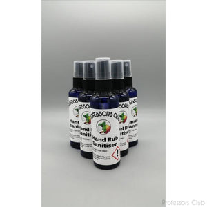Six pack of Professors Club - Hand Rub Sanitiser - 100ml (6x 100ml bottles) - Afterthought Spirits Company Ltd