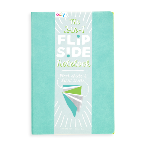 ooly - The FlipSide Double-Sided Notebook - Turq/Lime