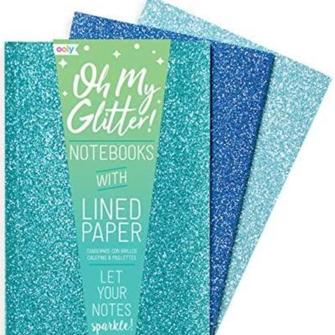 ooly - Oh My Glitter! Notebooks in Aqua
