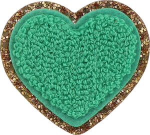 STONEY CLOVER LANE - Patch - Glitter Heart (Multiple Colors)