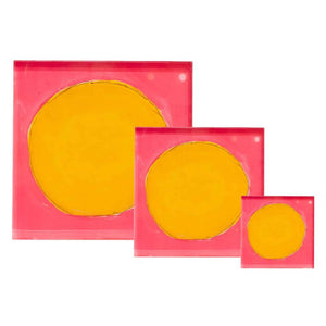 KERRI ROSENTHAL - Pop Pink Sunflower Dots Block of Love