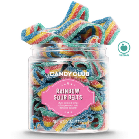 Candy Club - Rainbow Sour Belts