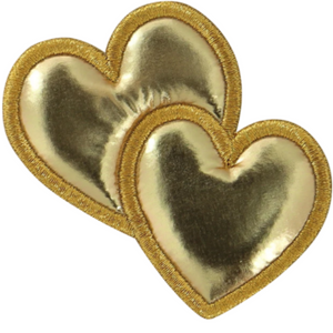 STONEY CLOVER LANE - Patch - Gold Puffy Icon Heart