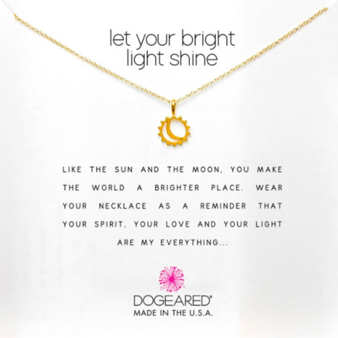 DOGEARED - let your bright light shine necklace