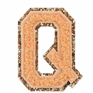 "STONEY CLOVER LANE - ""Q"" Patch in Peach"