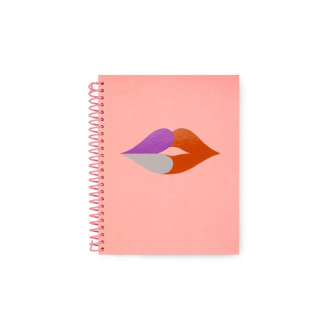 Kate Spade - Spiral Notebook in Heart Lips