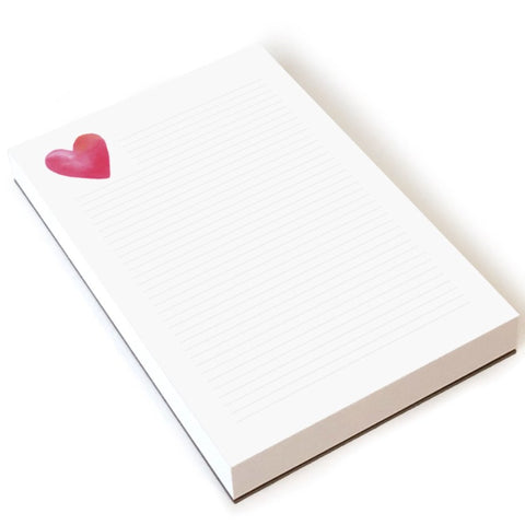 E. Frances - Heart Lined Notepad
