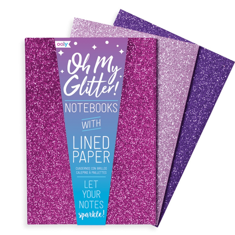 ooly - Oh My Glitter! Notebooks in Purples