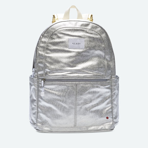 State - Kane Kids Large in Silver Gold Backpack