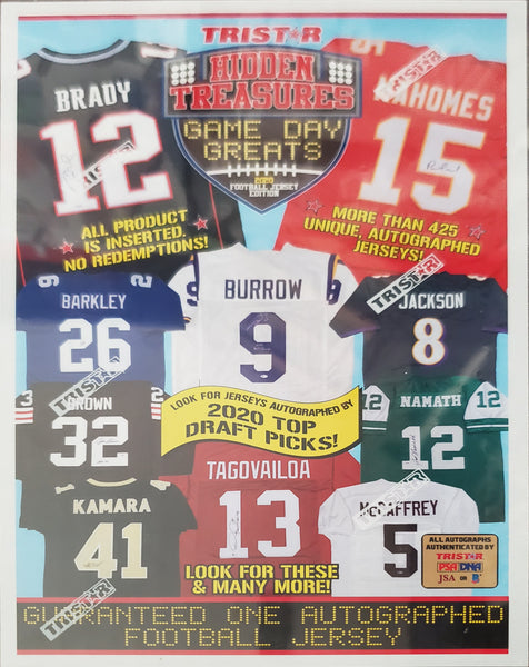 2020 TriStar Game Day Greats Autographed Jersey Series 3 Football Hobby Box