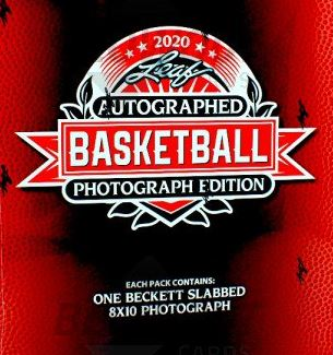 2020 Leaf Autographed Basketball Photograph Edition Box