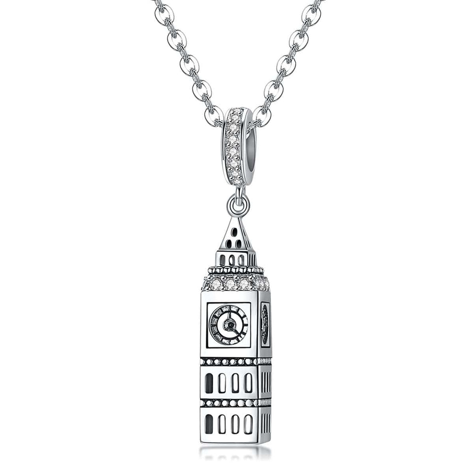British Big Ben Pendant with Necklace