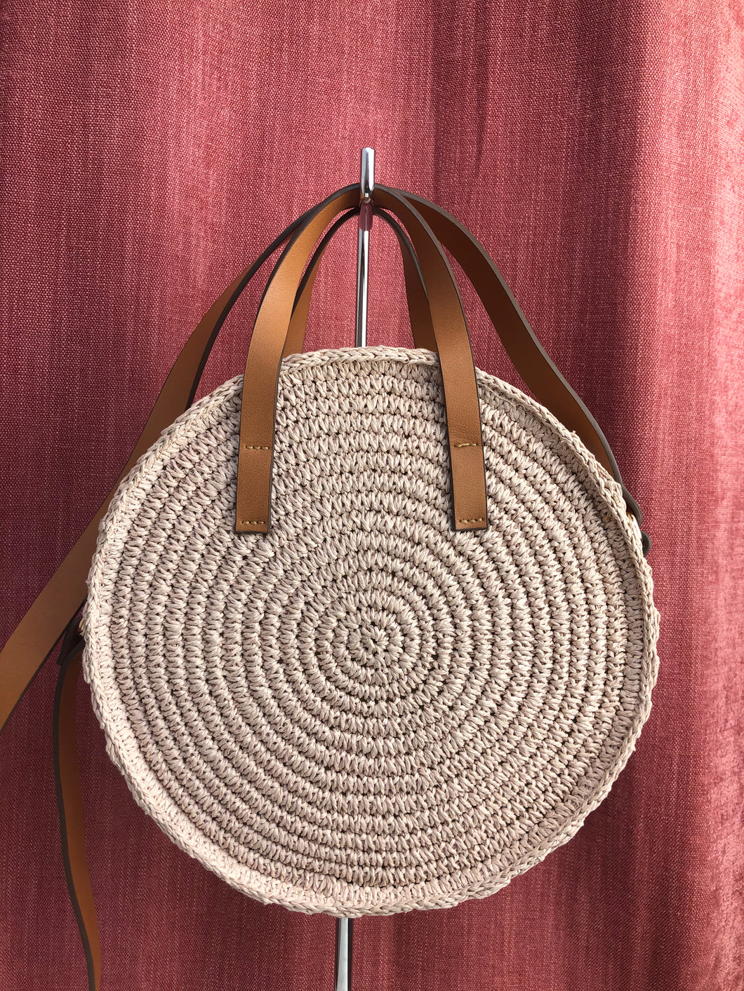 H&M Pink Woven Bag