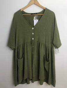 Finding July Khaki Dress- Size M