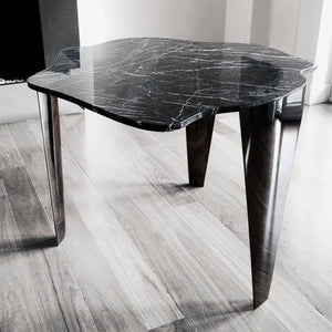 Black Nero Marquina Marble Dining Table