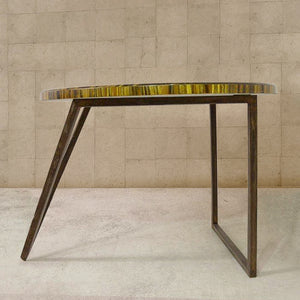 Tigers Eye Gemstone Centre Table