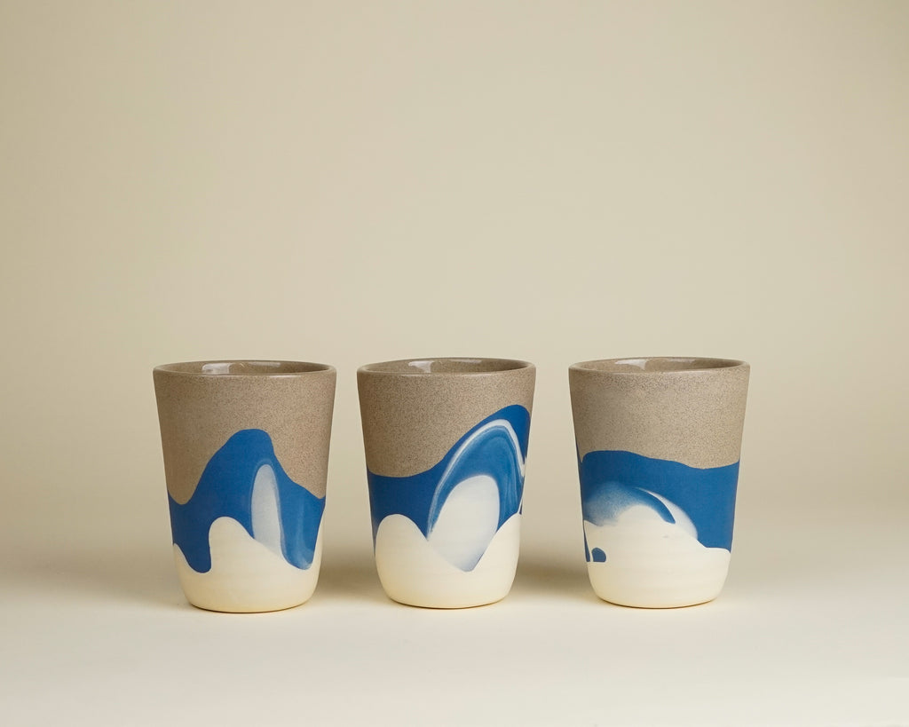 Beach tumblers and carafe