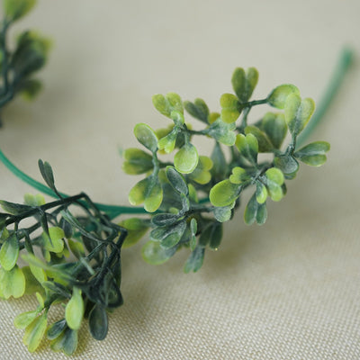 Boxwood Garland, Artificial Garland, Greenery Garland, Leaf Garland, Decorative Vines#color_green