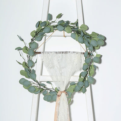 Artificial Garland, Arch Decoration, Greenery Garland, Faux Eucalyptus Garland, Leaf Garland#color_green