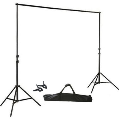 Adjustable Backdrop Stand, Metal Backdrop Stand, Portable Backdrop Stand, Photo Backdrop Stand, Background Stand#color_black