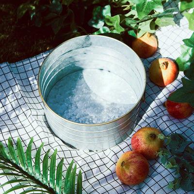 Galvanized Metal Buckets, Galvanized Ice Bucket, Metal Basket, Galvanized Beverage Tub, Metal Beverage Tub#color_parent