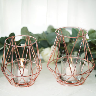 Geometric Candle Holder, Wire Candle Holder, geometric metal decor, Geometric Table Decor, Geometric Centerpiece#size_parent
