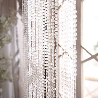 Crystal Beaded Curtains, Beaded Door Curtains, Hanging Bead Curtains, Hanging Door Beads, Beaded Room Dividers#color_clear