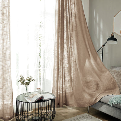 Linen Curtains, Linen Curtain Panels, Semi Sheer Curtains, Faux Linen Curtains, Linen Curtain Panels With Grommets#color_parent