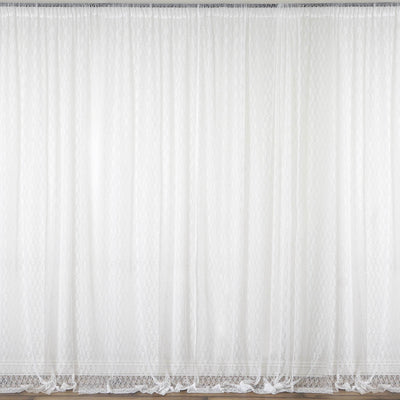 Lace Sheer Curtains, Fire Retardant Curtains, Lace Curtain Panels, Floral Lace Curtains, Rod Pocket Curtains#color_parent
