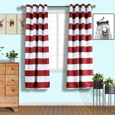 Polyester Curtains, Thermal Blackout Curtains, Blackout Window Curtains, Grommet Blackout Curtains, Cabana Stripe Curtains#color_parent