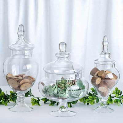 candy jars with lids, glass candy jars, glass apothecary jars, clear candy jars#color_parent