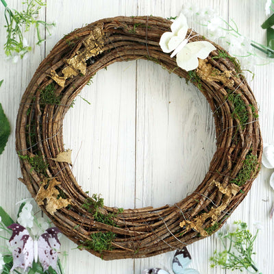 moss wreaths, wreath ring, christmas wreath decorations, wreath hoops, preserved moss#color_natural
