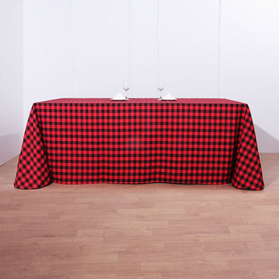 polyester tablecloths, polyester rectangle tablecloths, checkered tablecloth, buffalo plaid tablecloth, buffalo check tablecloth#color_parent