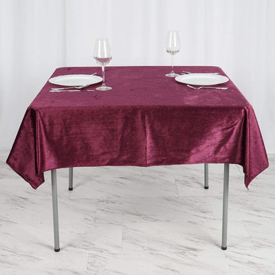 Square Tablecloth, square table cover, velvet tablecloth, decorative table covers, high quality table linens#color_parent
