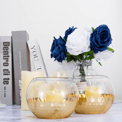 Bubble Glass Vase, Glass Flower Vase, Honeycomb Vase, Glass Candle Holders, Decorative Glass Vases#color_gold