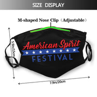 Spirit Festival face mask & covers with filters