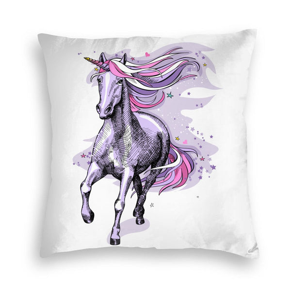 Unicorn Running Square Throw Pillow Covers Cushion Case for Sofa Bedroom Car