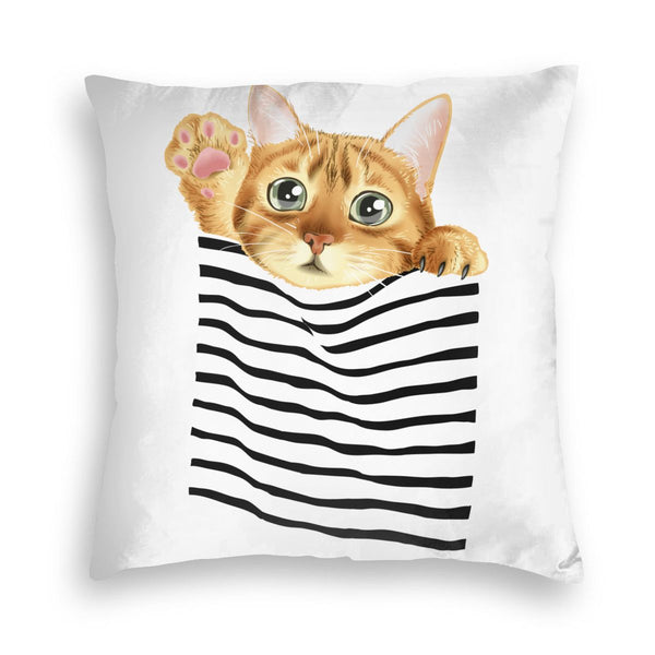 Cat Square Throw Pillow Covers Cushion Case for Sofa Bedroom Car
