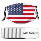 American Flag face mask & covers with filters