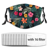 Summer Flower face mask & covers with filters