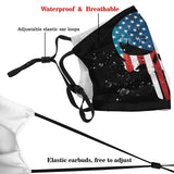 Punisher Skull American Flag face mask & covers with filters